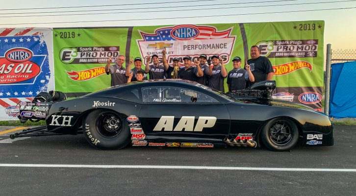 MIKE CASTELLANA COMES THROUGH WITH FIRST CAREER WIN AT INDY DURING E3 SPARK PLUGS NHRA PRO MOD ACTION