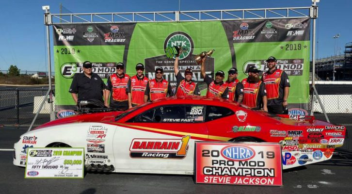 JACKSON DOUBLES UP AT NTK NHRA CAROLINA NATIONALS WITH PRO MOD EVENT VICTORY AND WORLD CHAMPIONSHIP